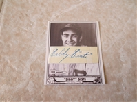 Autographed Sibby Sisti baseball card Greater Boston Sports Collectors Club