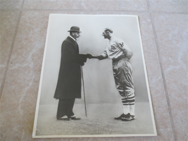 1925 Casey Stengel meets King George photo 8 x 10