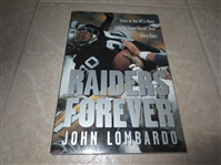 2001 Raiders Forever softcover book by Lombardo Stars of the NFL team recall glory days