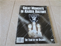 1998 Great Moments in Raider History The Team of the Decades softcover book by CWC