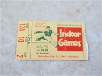 1961 Los Angeles Times Indoor Games Track Meet ticket
