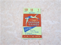 1960 LA Times Indoor Games Track and Field Meet ticket