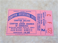 1962 Compton Invitational Track Meet ticket