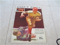 1932 Notre Dame at USC football program   Neat!