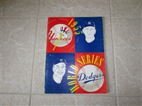 1955 World Series Baseball Program Brooklyn Dodgers vs. New York Yankees  Dodgers 1st Series Win