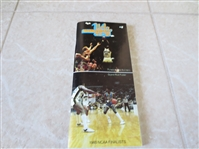1980-81 UCLA Basketball Media Guide Sanders, Foster, Holton, Pruitt, Eaton, Coach Brown