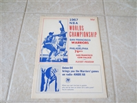 1967 NBA Basketball Championship unscored program Phil. 76ers at Warriors  Rick Barry, Wilt Chamberlain