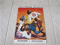 1935 New York Giants NFL Champions vs. Ernie Nevers Pacific Coast All Americans program
