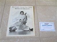 "Autographed Max Patkin ""The Crown Prince of Baseball"" photo"