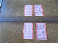 (4) 1947 Horse Racing Tickets from Golden Gate