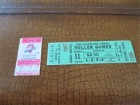1974 Cleveland Roller Games ticket + 1978 Oakland Stompers Soccer ticket