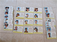 (55) 1963 Post Cereal baseball cards including Elston Howard, Whitey Ford, Aparicio, Roberts, Torre