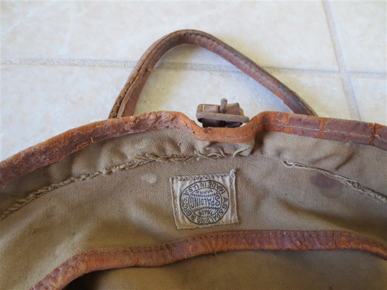 1914 Spalding Basketball Canvas Carry Bag   NEAT!