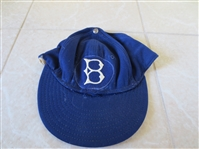 1950s Brooklyn Dodgers Don Bessent Game Used Worn Wilson baseball cap #46 WOW!