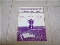 1941 NIT Basketball Championship Finals Scored Program Long Island Univ. wins it all!