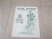 1955 NCAA Tournament Playoff Unscored Program USF Bill Russell First Round!