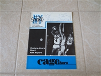 1969 Indiana Pacers at NY Nets ABA Basketball Program with autographs including Roger Brown  WOW!