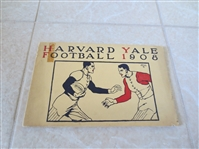 1908 Harvard at Yale Football Program   WOW!