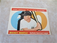 1960 Topps Mickey Mantle Sport Magazine All Star baseball card #563