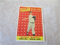 1958 Topps All Stars Mickey Mantle and Warren Spahn baseball cards #487, #494