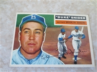 1956 Topps Snider, Campanella, Wilhelm, Ford baseball cards    All HOFers