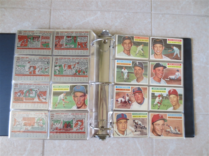 (250) 1956 Topps Baseball cards   Very nice condition with some stars and team cards!