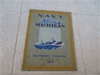 1926 Navy vs. Michigan football program with Fielding Yost and Benny Friedman