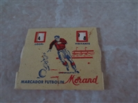 Circa 1950 (?)  Spanish Soccer Counter  Marcador Futbolin by Morand