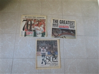 Gretzky gets record 802nd Goal newspapers + McGwire hits 70th home run newspaper