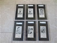 1927 Gene Tunney Fro Joy Boxing set #1 thru #6 all SGC graded