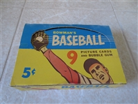 1955 Bowman Baseball 5 cents empty wax display box  Very nice condition!