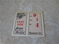 1911 Carlisle at Harvard football ticket stub  Famous Upset by Jim Thorpe of Carlisle