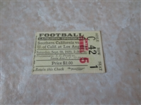 (2) 1929 FIRST USC vs. UCLA football game EVER ticket stubs  WOW!