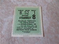 1926 Notre Dame at USC football ticket stub