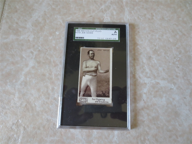 1890 Mayo's Cut Plug N310 Joe Goss SGC Authentic  Hall of Fame