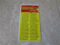 1969-70 Topps Basketball Check List card #99  Marked
