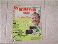 "1987 Mickey Mantle Cardboard Advertisement for Fuji Film 10.5"" x 8.5"""