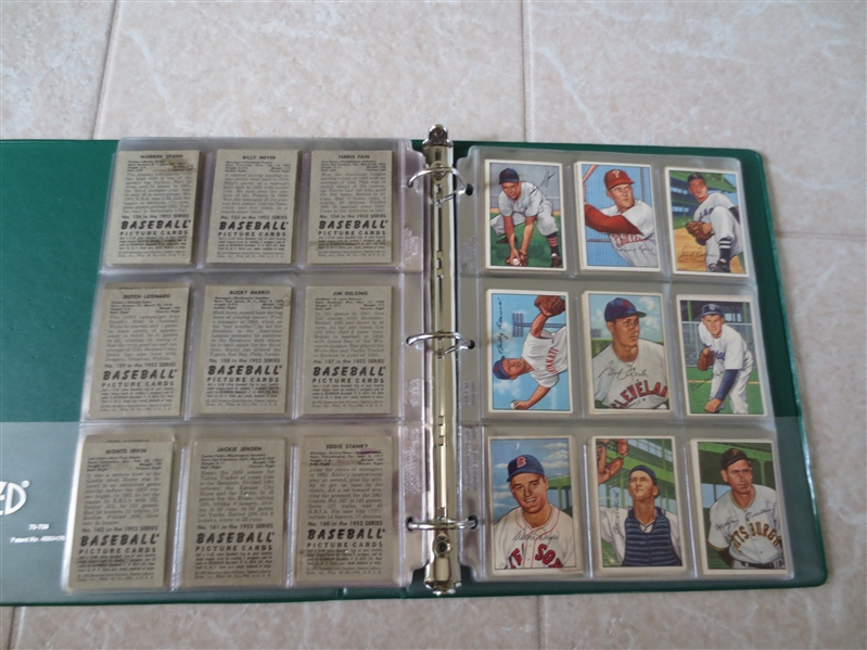(208) different 1952 Bowman baseball cards  208/252 Most of the set!