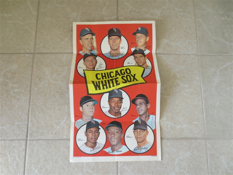 1969 Chicago White Sox Topps Team Poster 12 x 20 Tough to find #11