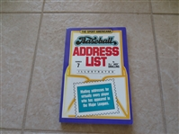 1992 Sport American Baseball Address List softcover book by Jack Smalling