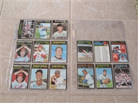 (15) 1971 Topps baseball cards FROM VENDING!  Beautiful.  Send to PSA.