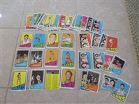 (80) 1972-73 Topps basketball cards including Maravich, Frazier, Cowens, other HOFers and Leader/All Star cards