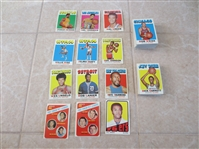 (110) 1971-72 Topps Basketball cards with stars in very nice shape