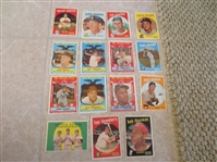 (35) 1959 Topps Baseball Cards  ALL HIGH #s from 507-572  Nice shape!