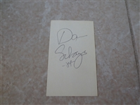 "Autographed Danny Schayes 3"" x 5"" card  Son of Dolph Schayes who is in the Hall of Fame"