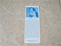 1971 Bob Cousy Basketball Hall of Fame Bookmark  VERY RARE!  Super condition