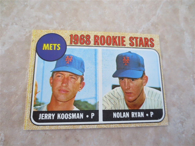1968 Topps Nolan Ryan rookie baseball card #177  Beautiful!