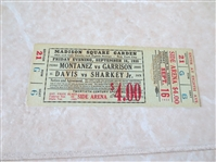 1938 Al Bummy Davis vs. Sharkey Jr. Boxing ticket  Jewish Mafia!