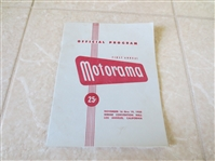 1950 First Annual Motorama Auto Racing Program Shrine Convention Hall Los Angeles