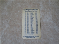 1963-64 Los Angeles Lakers pocket schedule  VERY RARE